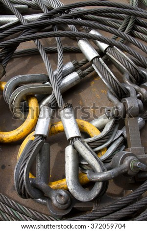 Heavy Duty Steel Wire Rope Sling Stock Photo (100% Legal Protection ...