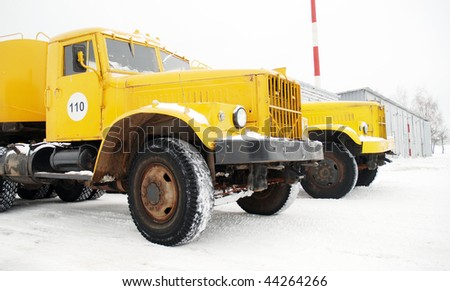 heavy duty trucks - stock photo