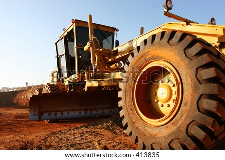 Heavy earth moving equipment - stock photo