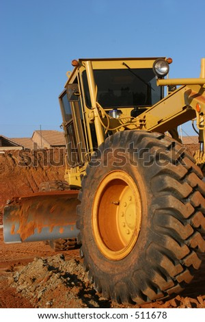 Heavy earth moving equipment busy working