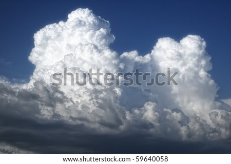 heavy gale stormy clouds - stock photo