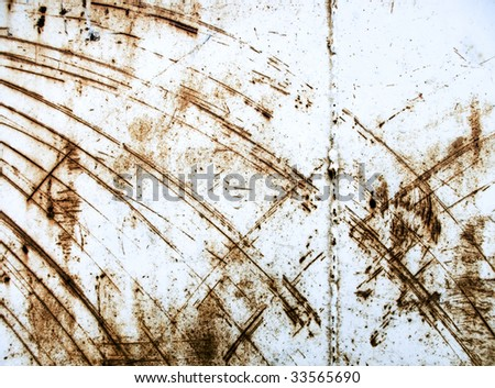 Heavy industrial background from rusty and scratched surface metal - stock photo