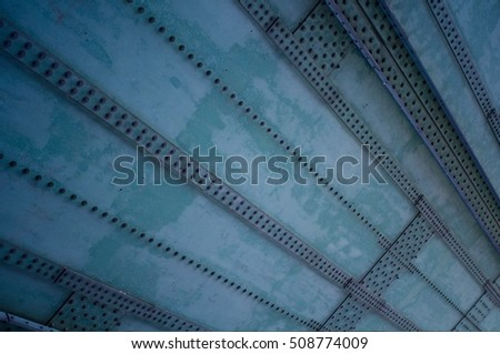 heavy iron plates with rivets
