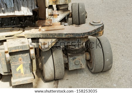 heavy load bearing carriages solid rubber wheels