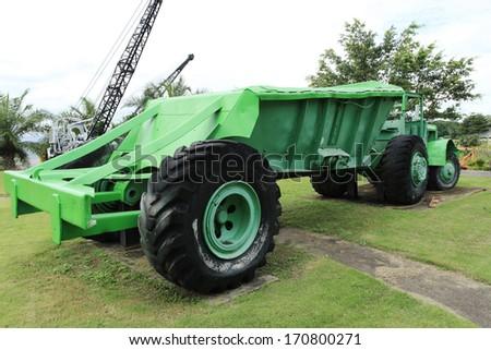 Heavy mining truck  - stock photo