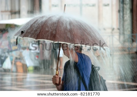 Heavy Rain - stock photo