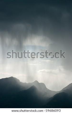 Heavy storm - stock photo