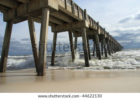 Stock images royalty free images vectors shutterstock for Pensacola beach fishing pier