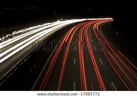 Heavy traffic on the highway, Bern, Switzerland - stock photo