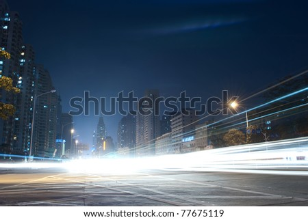Heavy traffic through the city now - stock photo