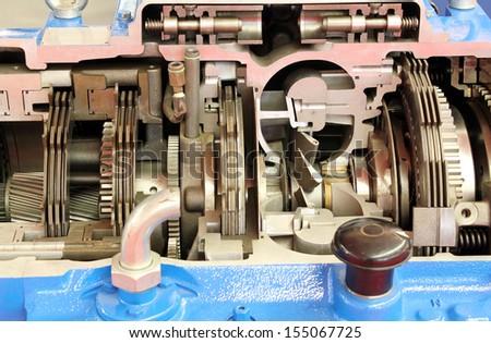 heavy truck gearshift  - stock photo