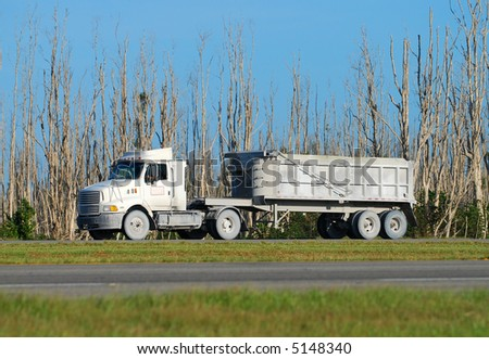 heavy truck transporting cement