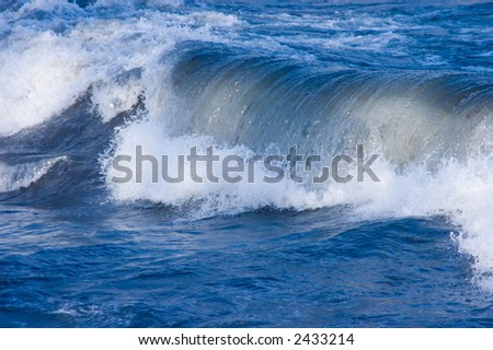 Heavy wave breaking at shore