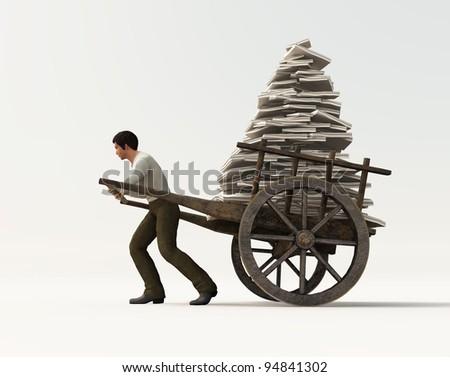 heavy work - stock photo