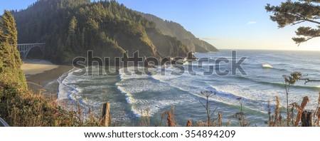 Heceta Head Lighthouse , Oregon - stock photo