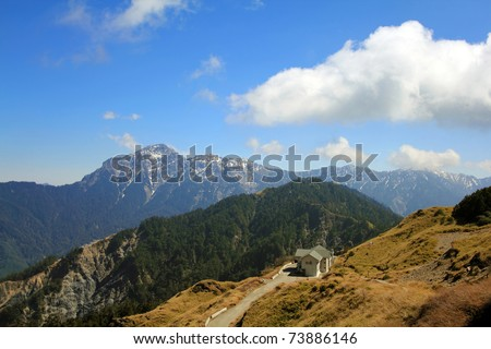 Hehuan Mountain in taroko national park, which is Taiwan Famous Landscape - stock photo
