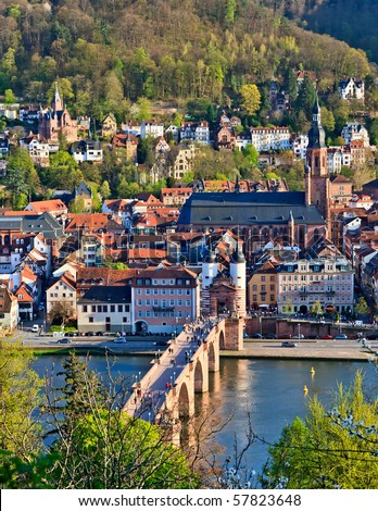Heidelberg at spring, Germany - stock photo