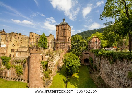 Heidelberg Castle, Palace of kings on sunny day