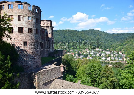 Heidelberg Germany Castle, Heidelberger Schloss - stock photo