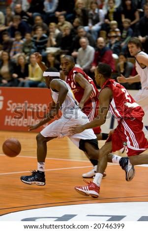 HEIDELBERG, Germany - November 16: Basketball - USC Heidelberg vs. Bayern M�¼nchen, November 16, 2008 in Heidelberg, Germany. - stock photo