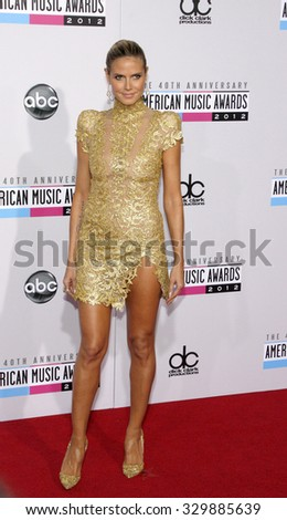 Heidi Klum at the 2012 American Music Awards held at the Nokia Theatre L.A. Live in Los Angeles, USA on November 18, 2012.