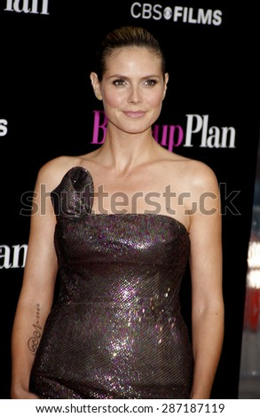 Heidi Klum at the Los Angeles premiere of 'The Back-Up Plan' held at the Regency Village Theatre in Westwood on April 21, 2010.  - stock photo