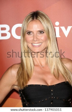 Heidi Klum at the 2013 NBC Universal Summer Press Day , Langham Huntington Hotel, Pasadena, CA 04-22-13 - stock photo