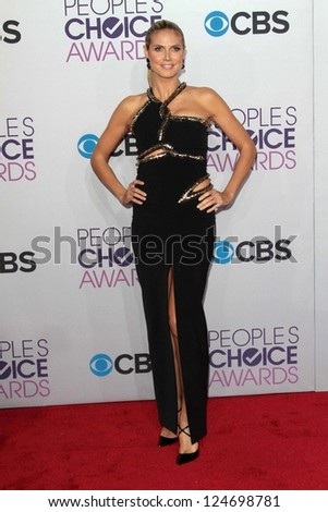 Heidi Klum at the 2013 People's Choice Awards Arrivals, Nokia Theater, Los Angeles, CA 01-09-13