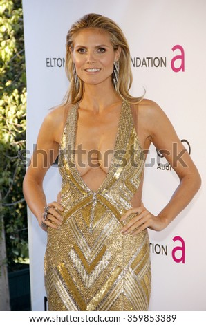 Heidi Klum at the 21st Annual Elton John AIDS Foundation Academy Awards Viewing Party held at the West Hollywood Park in Los Angeles, USA on February 24, 2013.