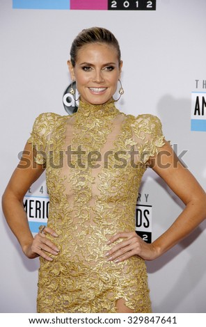 Heidi Klum at the 40th American Music Awards held at the Nokia Theatre L.A. Live in Los Angeles, USA on November 18, 2012. - stock photo