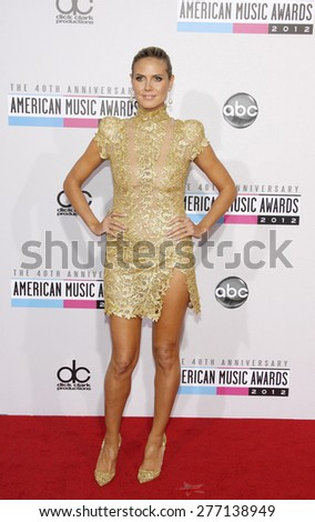 Heidi Klum at the 40th Anniversary American Music Awards held at the Nokia Theatre L.A. Live in Los Angeles, United States, 181112.