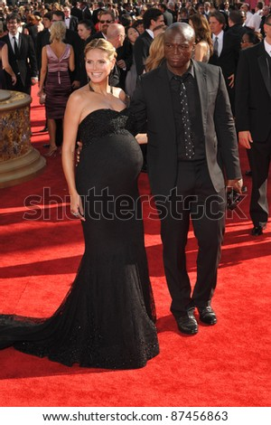 Heidi Klum & husband Seal at the 61st Primetime Emmy Awards at the Nokia Theatre L.A. Live. September 20, 2009  Los Angeles, CA Picture: Paul Smith / Featureflash