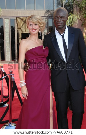 Heidi Klum & Seal at the 59th Primetime Emmy Awards at the Shrine Auditorium. September 16, 2007 Los Angeles, CA Picture: Paul Smith / Featureflash