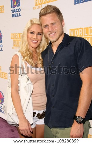 "Heidi Montag and Spencer Pratt  at ""Reality Check Challenge' to Promote Taco Bell's partnership with The World Food Programme. Taco Bell, Los Angeles, CA. 10-02-08"