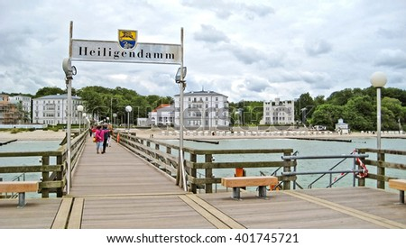 HEILIGENDAMM, GERMANY - June 26, 2012: Pier in Heiligendamm. This beach resort hosts several famous global events like G8 in 2007.