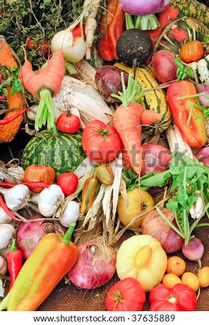 Heirloom Vegetables for Background