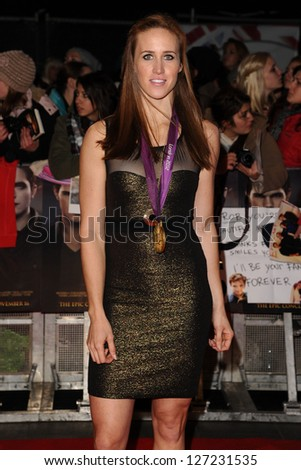 "Helen Glover arriving for the ""The Twilight Saga: Breaking Dawn Part 2"" premiere at the Odeon Leicester Square, London. 14/11/2012 Picture by: Steve Vas"
