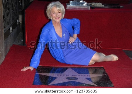 Helen Mirren at Helen Mirren's induction ceremony into the Hollywood Walk of Fame, Hollywood, CA 01-03-13