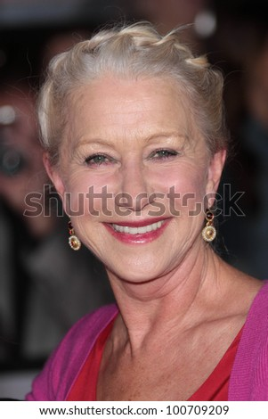 "Helen Mirren at the ""John Carter"" Los Angeles Premiere, Regal Cinemas, Los Angeles, CA 02-22-12 - stock photo"