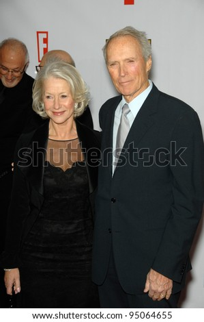 HELEN MIRREN & CLINT EASTWOOD at the 12th Annual Critics' Choice Awards at the Santa Monica Civic Auditorium. January 12, 2007  Los Angeles, CA Picture: Paul Smith / Featureflash