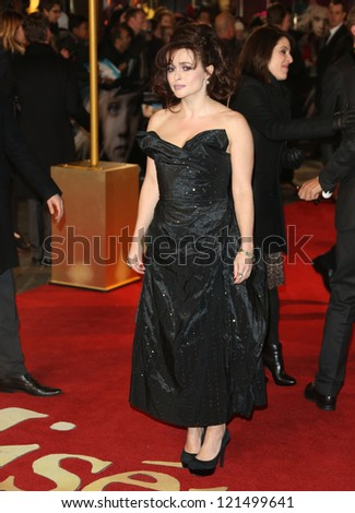 Helena Bonham Carter arriving at the World Premiere of 'Les Miserables' held at the Odeon & Empire Leicester Square, London. 05/12/2012 Picture by: Henry Harris