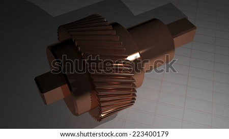 Helical gear - Toothed pinion