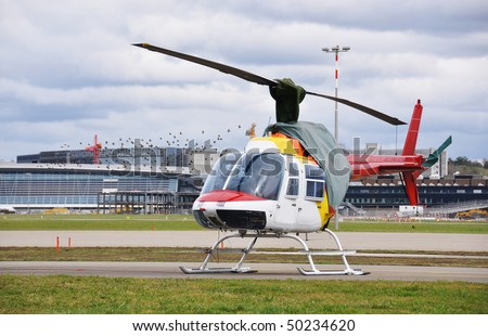 Helicopter at heliport