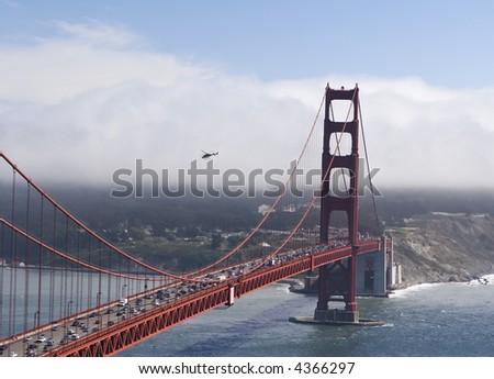 Helicopter Bridge - stock photo