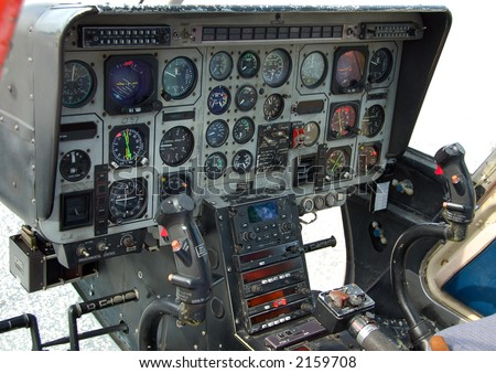 Helicopter cockpit instrumentation panel
