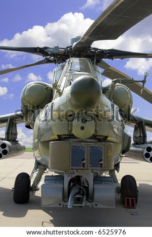 Helicopter combat - stock photo