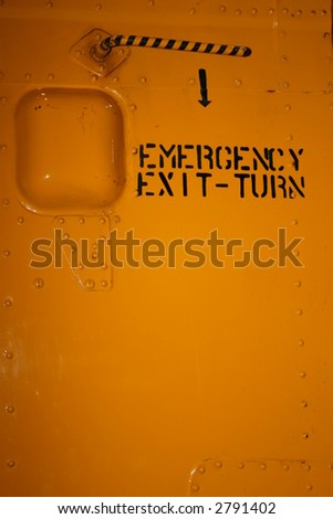 Helicopter Emergency Exit - stock photo