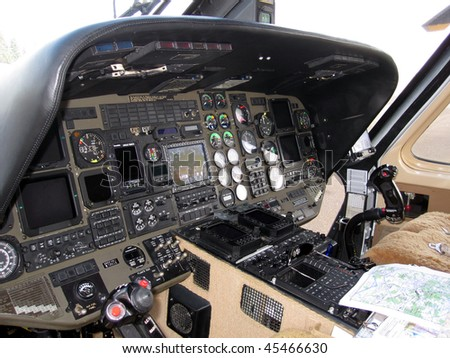 helicopter flight deck - stock photo