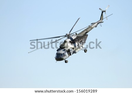 Helicopter in air - stock photo