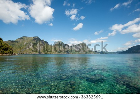 Helicopter Island, El Nido, Palawan, The Philippines - stock photo